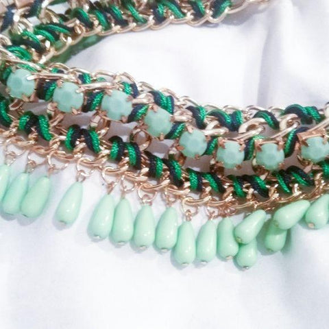 Beautiful Green Choker Statement Necklace