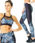 Camo Supplex Moisture-Resistant Fashion Leggings & Sports Bra Set