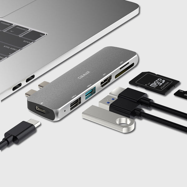6-in-1 USB C HUB, Multiport Adapter