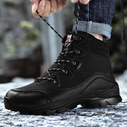 139325 Men's  Outdoor Lace Up Slip Resistant Leather Climbing Hiking Boots