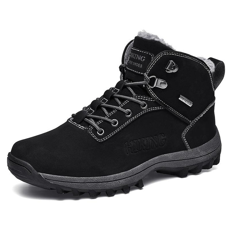 Mens Snow Boots Waterproof Insulated Outdoor Hiking Shoes Fur Lined Warm Winter Boots