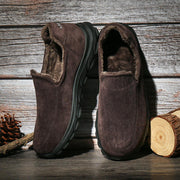 138299 Men Warm Plus Lining Soft Sole Slip On Comfy Casual Boots