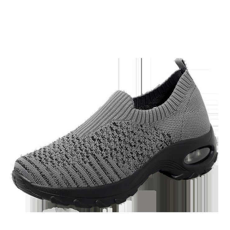 Women's shoes air cushion fly woven fashion Silp on casual Running Shoes