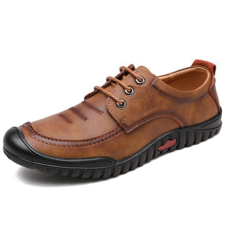 Men's Microfiber Leather Non Slip Anti-collision Soft Casual Shoes