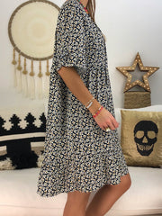 Women's Chic Abstract Printed Short Sleeve Dress