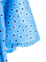 Women's Crew Neck A-Line Polka Dots Dresses