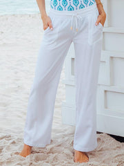 Women's Casual Cotton-Blend Shift Pants