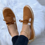 Women's Bow Button Beanie Shoes