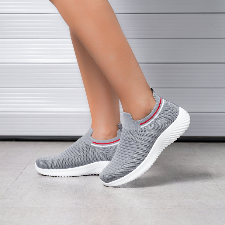 Women's casual comfortable flyknit weaving sports shoes