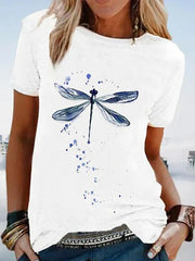 Cotton-Blend Casual Graphic Shirts & Tops