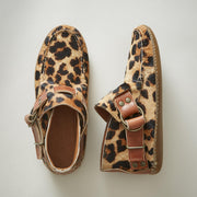 Women's Comfy Leather Leopard Suede Ring Boots
