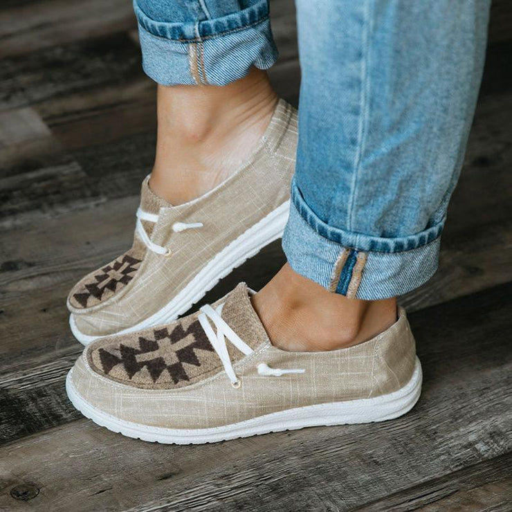 Women's Pattern Canvas Comfortable Flat Shoes