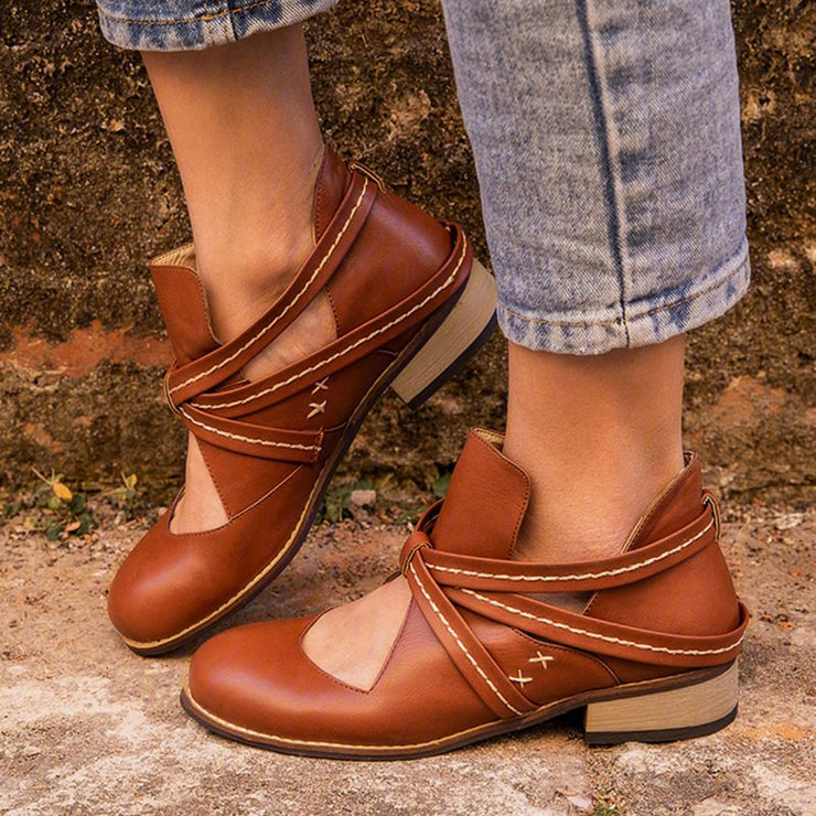 Women's Vintage Ankle Boots Casual Chic Hollow Out Boots