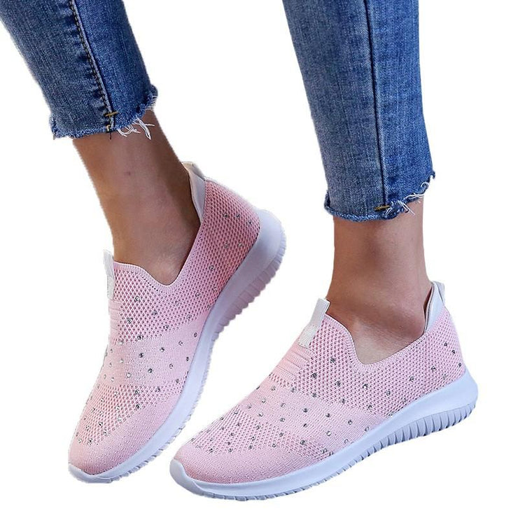Women's Comfortable Bling Non-Slip Flying Woven Sports hoes