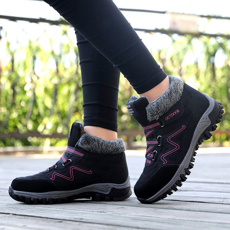 Women's Winter Waterproof And Warm Large Size Snow Boots Sports Shoes