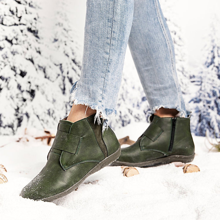Women's Winter Flat Heel Boots