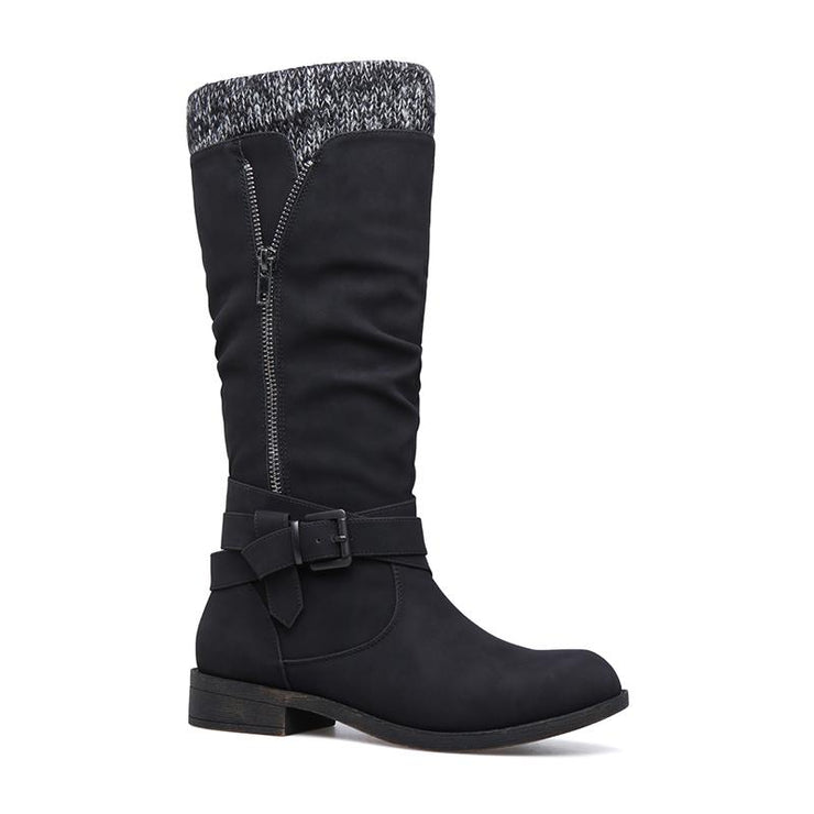 Women's Winter Knitted Fabric Boots