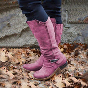 Women's Retro Daily Zipper All Season Boots