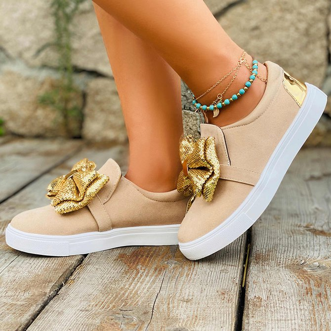 Women's Flat Heel Outdoor Artificial Leather All Season Sneakers