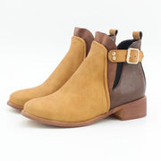 Women's Vintage Low Heel Round Toe Chelsea Booties