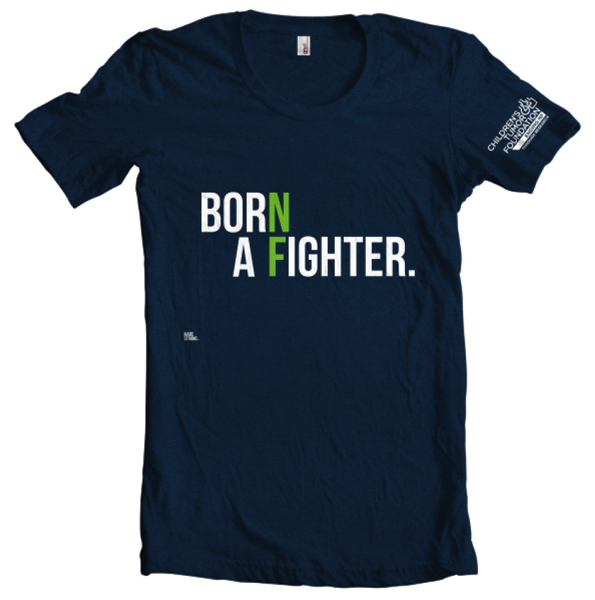 'Born a Fighter' T-Shirt. '