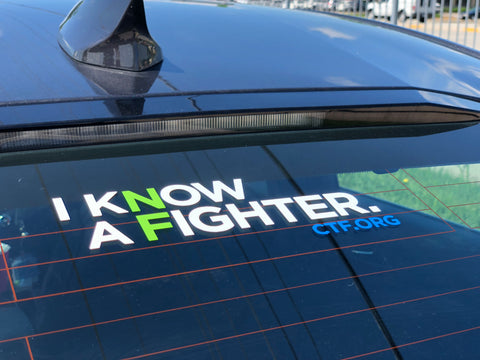I Know a Fighter Vinyl Decal