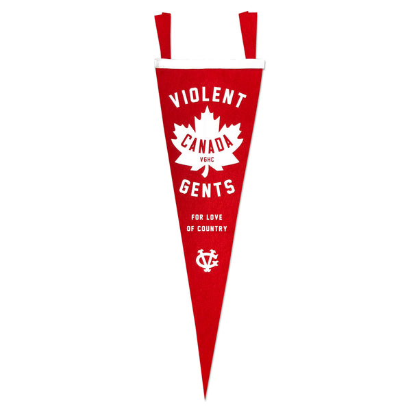 Canada Hockey Club Pennant - Blue - Accessories - Violent Gentlemen