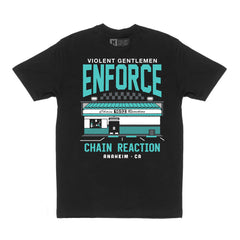 Enforce Chain Reaction Tee - Black - Men's T-Shirts - Violent Gentlemen