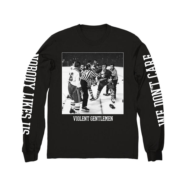 Rage Long Sleeve Tee - Black - Men's T-Shirts - Violent Gentlemen