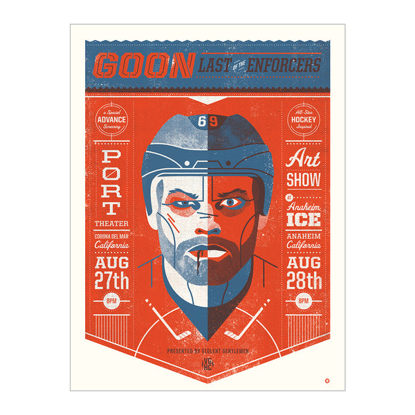 Glatt Enforcer Print - Blue/Orange - Art - Violent Gentlemen