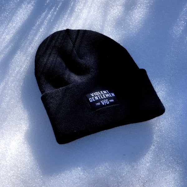 Black Label Cuff Beanie -  - Beanies - Violent Gentlemen