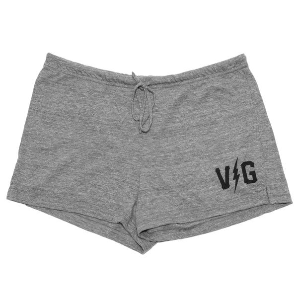 Bolts Tri-Blend Shorts - Athletic Grey - Women's Bottoms - Violent Gentlemen