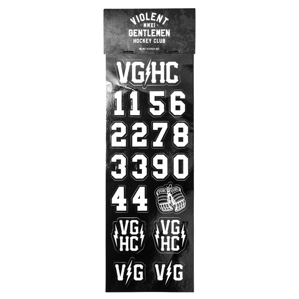 VG Helmet Stickers - White - Accessories - Violent Gentlemen