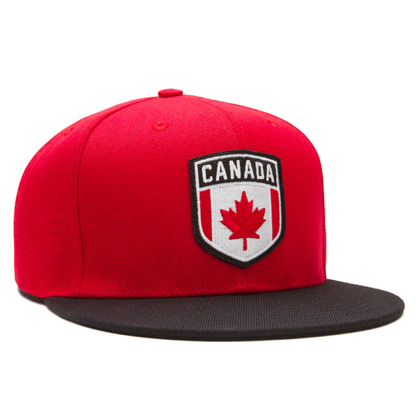 Canada Snapback - Red/Black - Accessories Hats - Violent Gentlemen