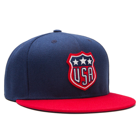 USA Snapback - Blue/Red - Accessories Hats - Violent Gentlemen