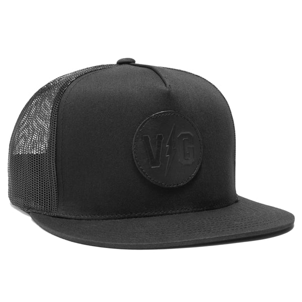 Blacked Out Retro Trucker - Black - Hats - Violent Gentlemen