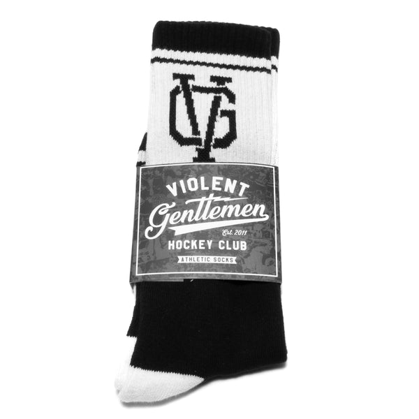 Standard Issue Athletic Socks - Black/White - Accessories - Violent Gentlemen