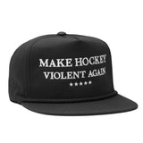 Make Hockey Snapback - Black/White - Hats - Violent Gentlemen