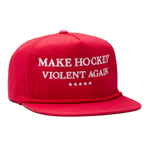 Make Hockey Snapback - Red/White - Hats - Violent Gentlemen