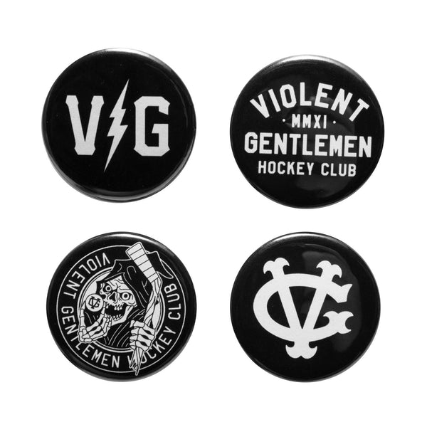 Winger Button Pack - Black - Accessories - Violent Gentlemen