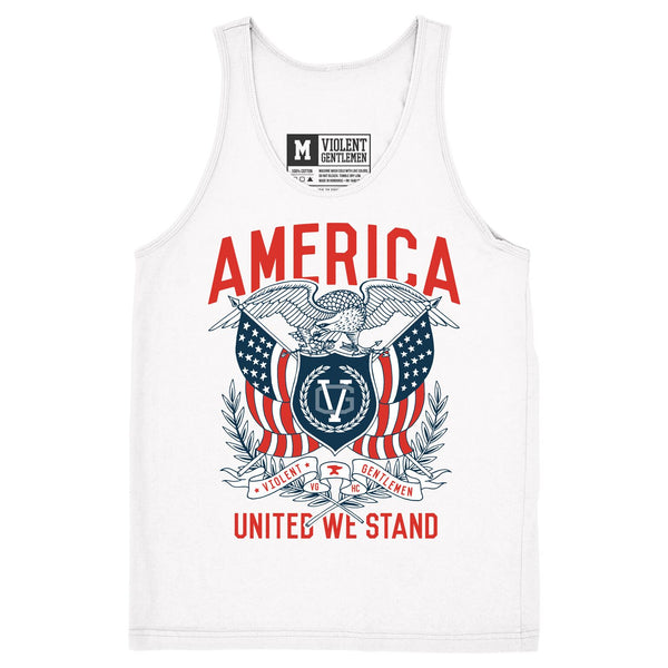 United We Stand Tank - White - Men's Tank Tops - Violent Gentlemen