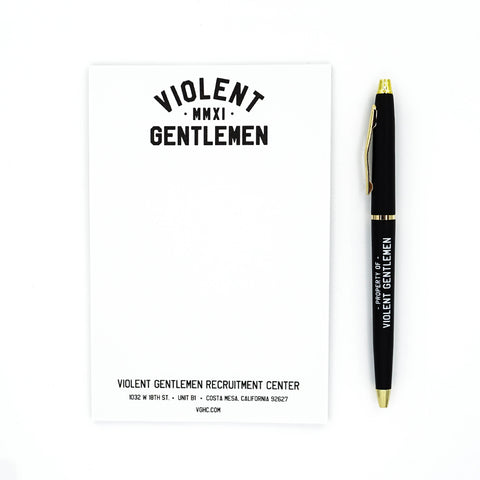 VG Note Pad Set - White - Accessories - Violent Gentlemen