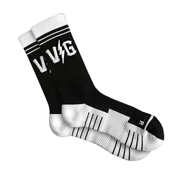 VG Performance Socks - Black/White - Accessories - Violent Gentlemen