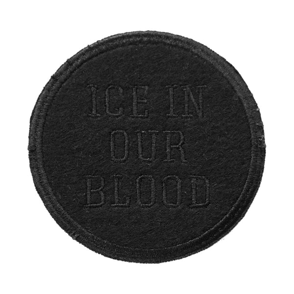 Ice In Our Blood Patch - Black - Accessories - Violent Gentlemen