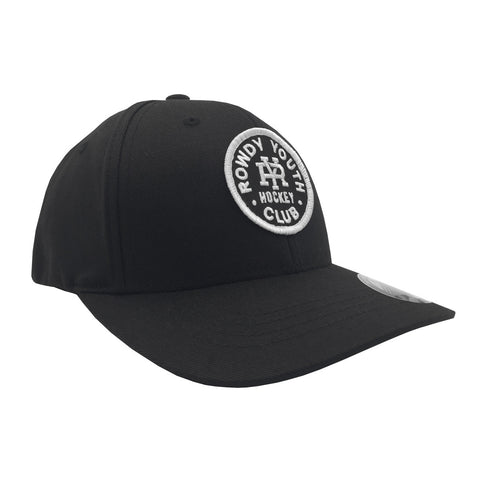 Rowdy Youth Circle Youth Flex Fit - Black - Hats - Violent Gentlemen