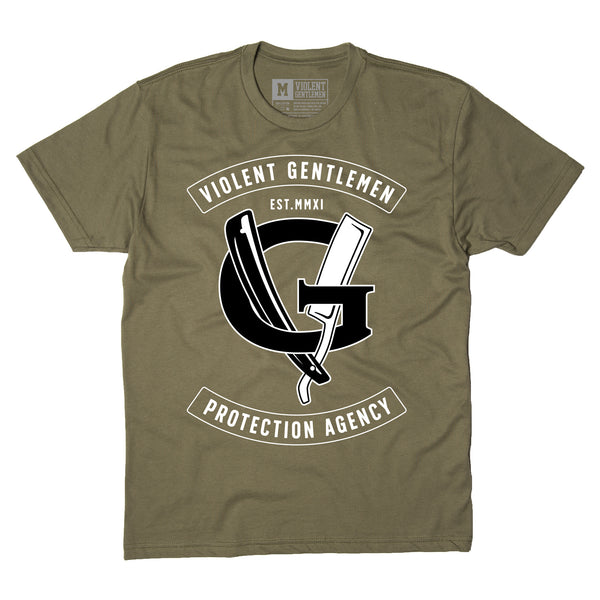 Agency Tee - Military Green - Men's T-Shirt - Violent Gentlemen