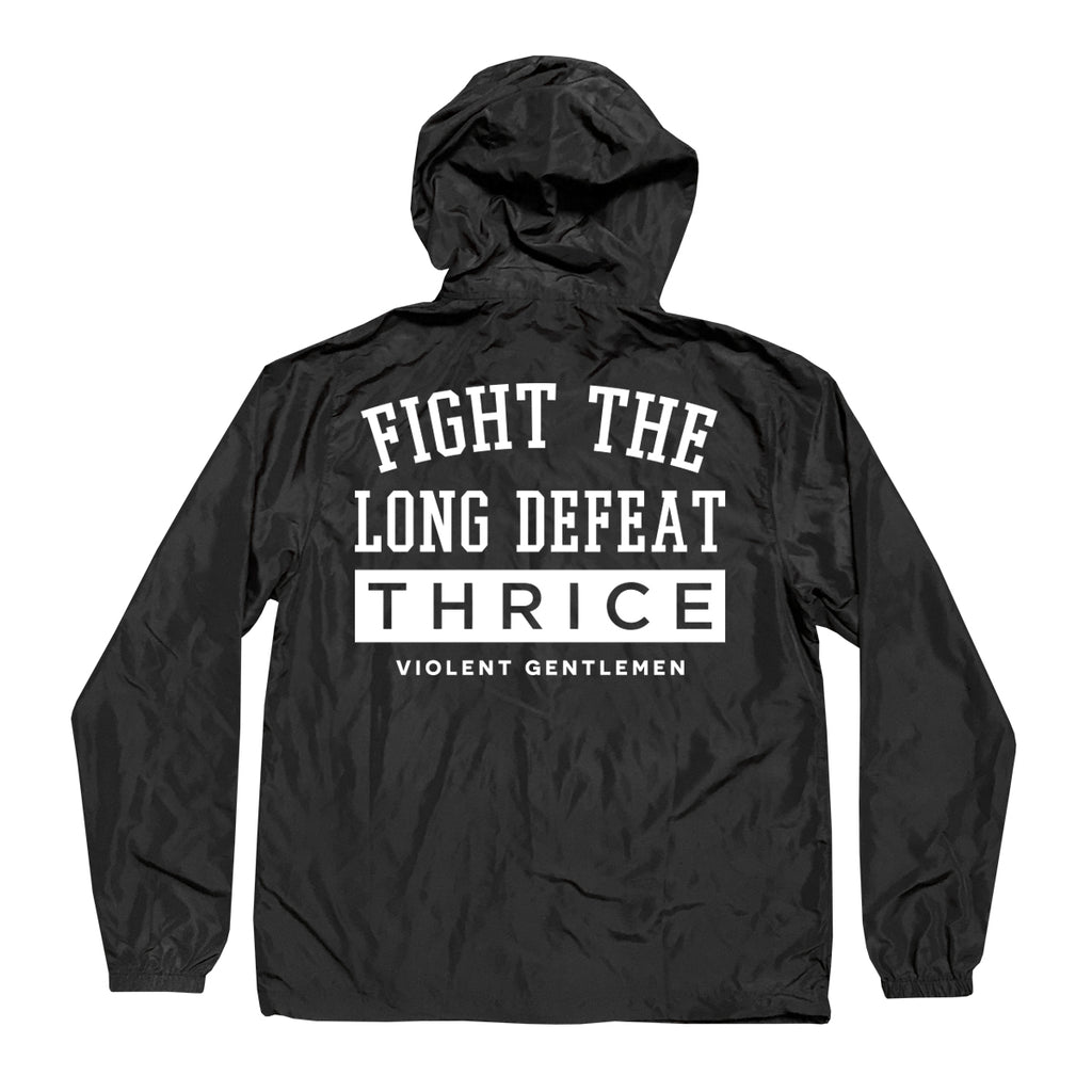 VG x Thrice Defeat Windbreaker - Black - Men's Jacket - Violent Gentlemen
