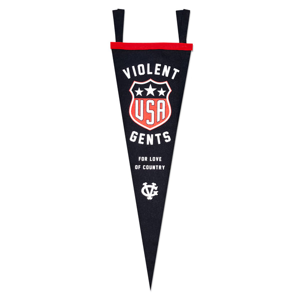 USA Hockey Club Pennant - Blue - Accessories - Violent Gentlemen