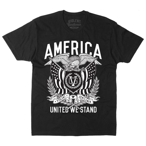 United We Stand Tee 1.0 - Black - Men's T-Shirts - Violent Gentlemen