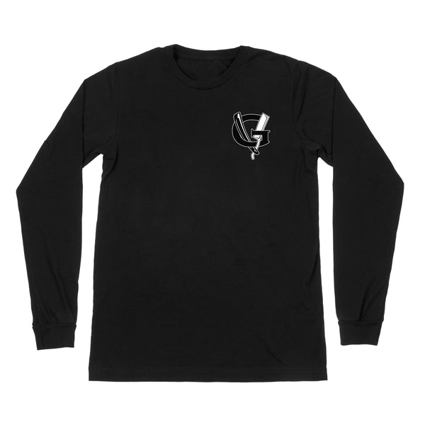 Agency Long Sleeve Tee - Black - Men's T-Shirts - Violent Gentlemen